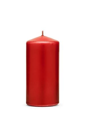 Cilindra svece, matēta, sarkana, 12 cm x 6 cm