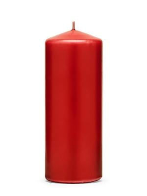 Cilindra svece, matēta, sarkana, 15 cm x 6 cm