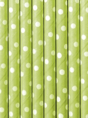 10 gab, Salmiņi zaļo ābolu krāsā, 19.5 cm