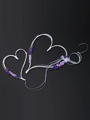 2 gab, Sirdis ar pušķiem, violetas