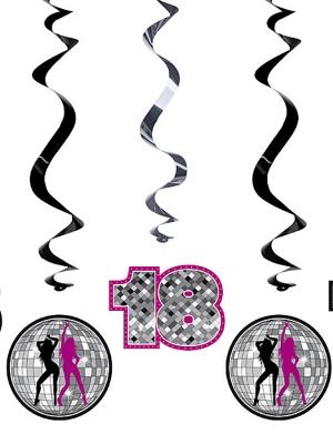 5 pcs, Swirls 18th Birthday, mix, 60cm