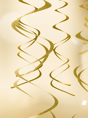 5  gab, Piekaramais dekors, zelta, 60 cm