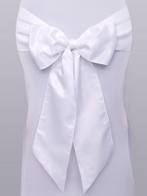 10 pcs, Chair sashes, white, 0.15 x 2.75 m