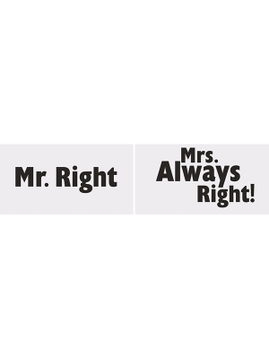 2 gab, Foto atribūtika, Mr. Right/Mrs. Always Right!,  30 x 15 cm