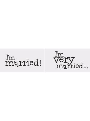 2 gab, Foto atribūtika, Im married/ Im very married, 30 x 15 cm
