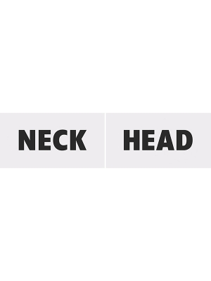 2 gab, Foto atribūtika Head & Neck, 30 x 15 cm