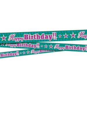 Lente Daudz laimes dzimšanas dienā, 7.5 x 600 cm