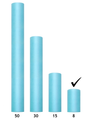 Tills, gaiša tirkīza, 0.08 x 20 m