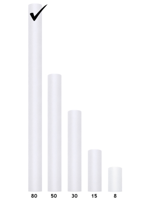 Тюль, цвет белый, 0.80 х 9 м