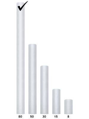 Tulle Plain, light grey, 0.8 x 9m