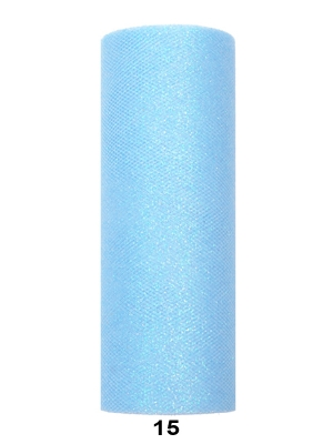 Tills ar gliteriem, gaiši zils, 0.15 x 9 m