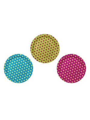 6 gab,  Šķīvīši krāsaini, 23 cm