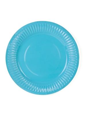 6 gab, Šķīvīši gaiši zili, 18 cm