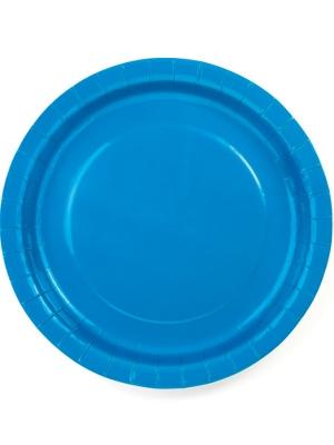 6 gab, Šķīvīši zili, 23 cm