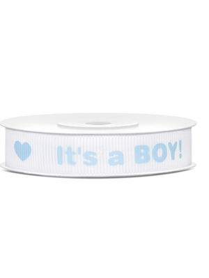 Grosgrain ribbon Its a Boy!, 12mm/10m