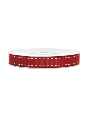 Lente rievota, sarkana ar baltu, 15 mm x 25 m