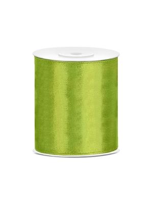 Satīna lente, zaļa, 100 mm x 25 m