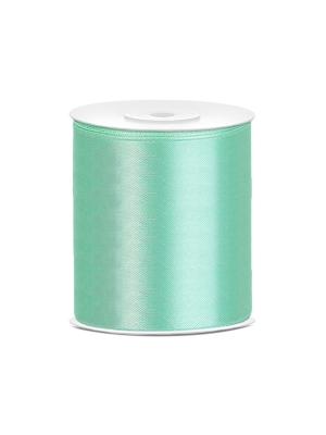 Satīna lente, mint zaļa, 100 mm x 25 m