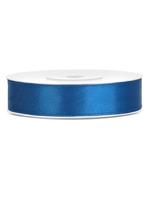 Satīna lente, zila, 12 mm x 25 m