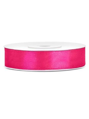 Satīna lente, tumši rozā, 12 mm x 25 m