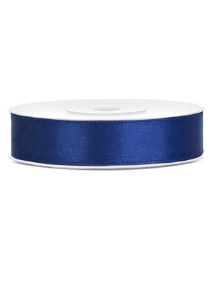 Satīna lente, jūras zils, 12 mm x 25 m