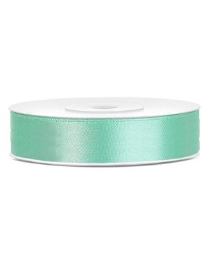 Satīna lente, mint zaļa, 12 mm x 25 m