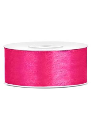 Satīna lente, tumši rozā, 25 mm x 25 m