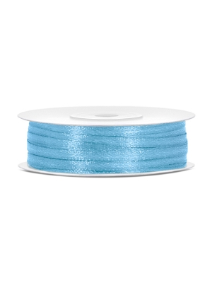Satīna lente, gaiši zila, 3 mm x 50 m