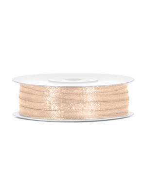 Satīna lente, krēmkrāsā, 3 mm x 50 m