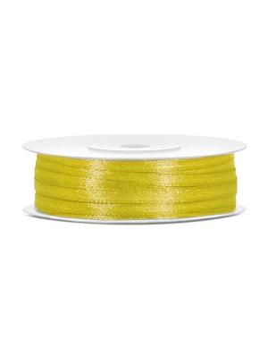 Satīna lente, tumši dzeltena, 3 mm x 50 m