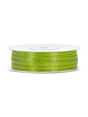 Satīna lente, zaļo ābolu, 3 mm x 50 m