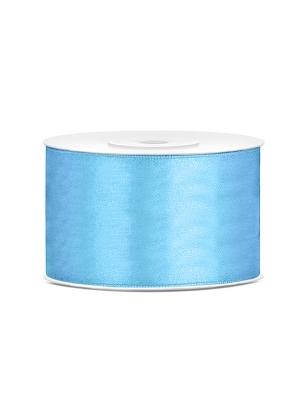 Satīna lente, gaiši zila, 38 mm x 25 m