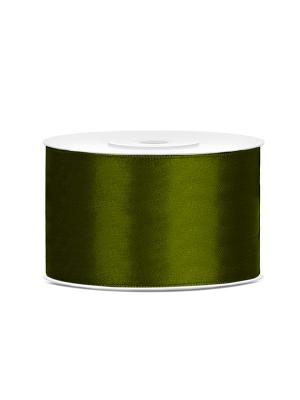 Satīna lente, zaļa, 38 mm x 25 m