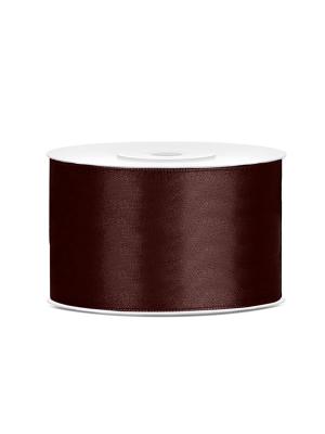 Satīna lente, brūna, 38 mm x 25 m