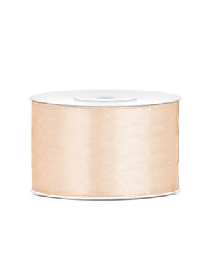 Satīna lente, krēmkrāsā, 38 mm x 25 m