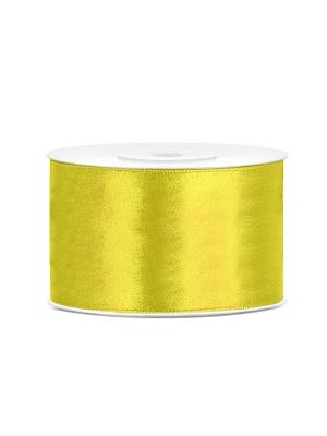 Satīna lente, tumši dzeltena, 38 mm x 25 m