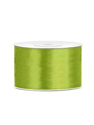 Satīna lente, zaļo ābolu, 38 mm x 25 m