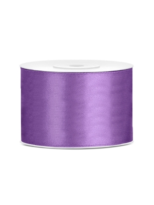 Satīna lente, lavandas, 50 mm x 25 m
