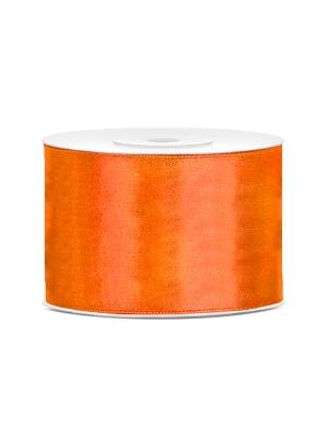 Satīna lente, neona oranža, 50 mm x 25 m