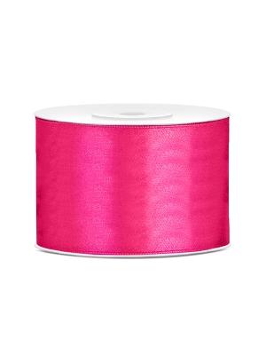Satīna lente, tumši rozā, 50 mm x 25 m