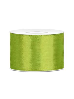 Satīna lente, zaļo ābolu, 50 mm x 25 m