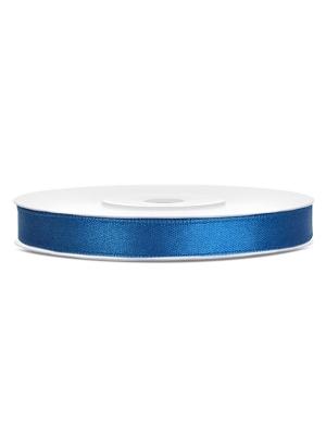 Satīna lente, zila, 6 mm x 25 m
