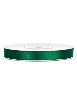 Satīna lente, zaļās pudeles krāsā, 6 mm x 25 m