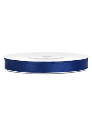 Satīna lente, jūras zila, 6 mm x 25 m