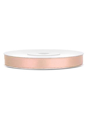 Satīna lente, gaiša persiku, 6 mm x 25 m
