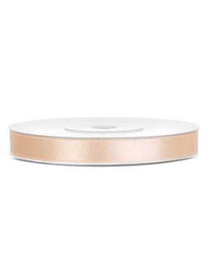 Satīna lente, krēmkrāsā, 6 mm x 25 m