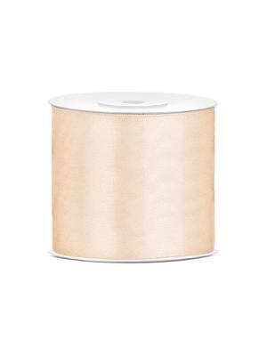 Satīna lente, krēmkrāsā, 75 mm x 25 m