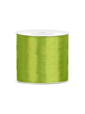 Satīna lente, zaļo ābolu, 75 mm x 25 m