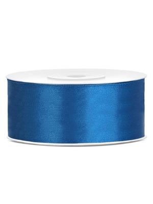 Dubultā satīna lente, zila, 25 mm x 25 m