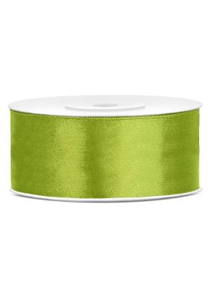 Dubultā satīna lente, gaiši zaļa, 25 mm x 25 m